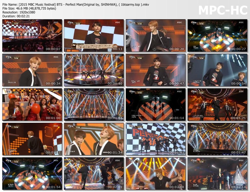 60xa [2015 mbc music festival] bts   perfect man(original by, shinhwa), ( 1btsarmy.top ).mkv thumbs - video /links] BTS Various Artist Song Cover Performs]
